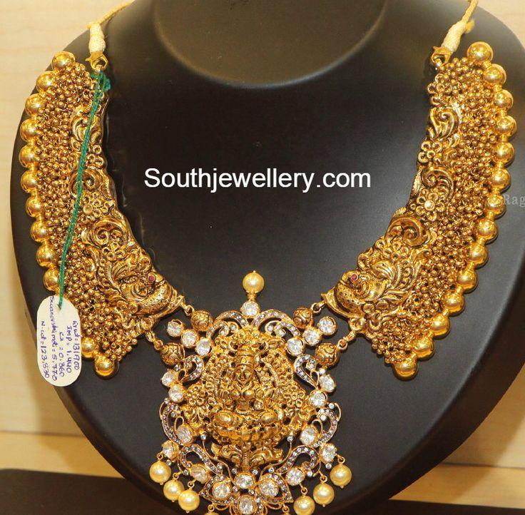 peacock_lakshmi_antique_necklace.jpg 782×768 pixels