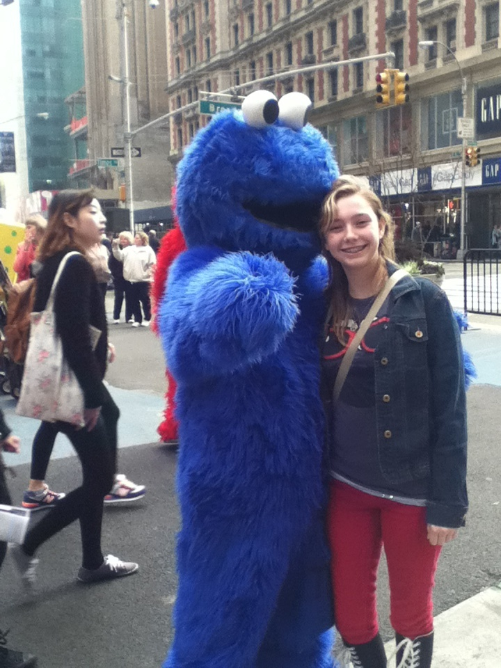 ME AND COOKIE MONSTER NYC