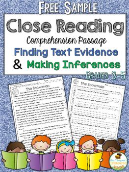 Close Reading Free - repinned by @PediaStaff – Please Visit  ht.ly/63sNt for all our pediatric therapy pins