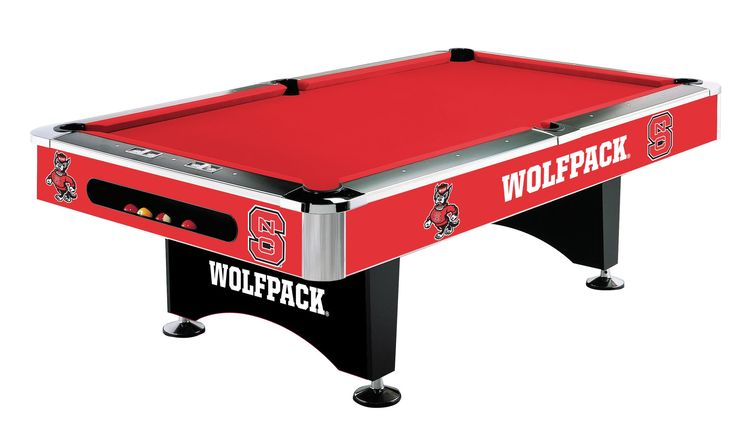 8Ft Pool Table - North Carolina State University Wolfpack