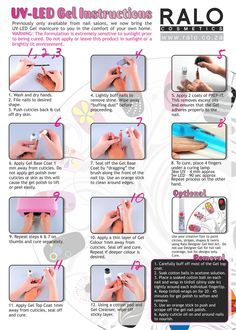 UV/LED Gel Nail Polish Tutorial - We tell you how to apply and cure with Ralo Cosmetics