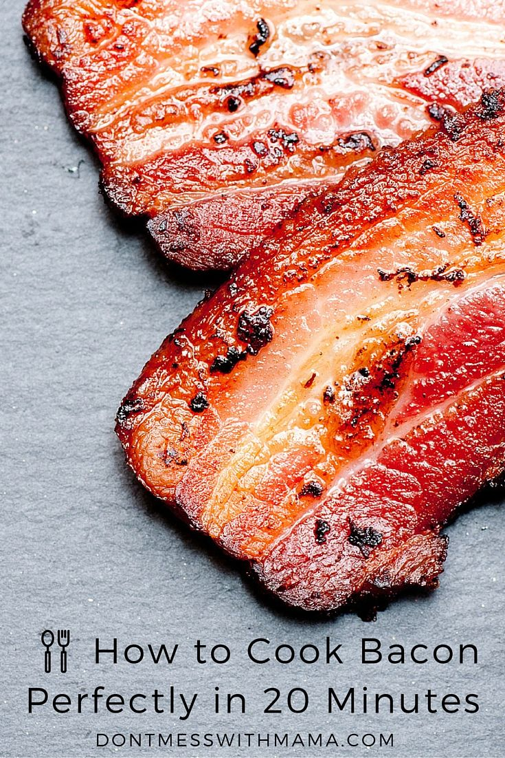 How to Cook Bacon in the Oven - the easy way to cook bacon without the grease mess - DontMesswithMama.com