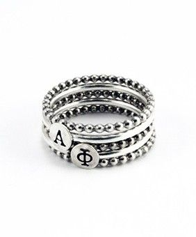Alpha Phi Stackable Rings by Heidi J Hale Designs