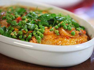 Rico pollo arverjado, es una exquisita receta del chef chileno Christopher Carpentier