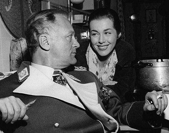 Curd Jürgens and Marianne Koch in Des Teufels General (1955)