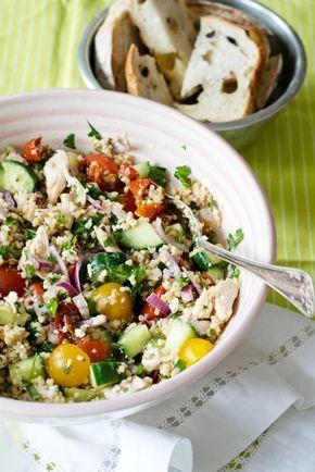 Bulgur chicken salad minus the chicken