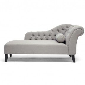 Baxton Studio 'Aphrodite' Tufted Putty Gray Linen Modern Chaise Lounge | Overstock.com- $644.99