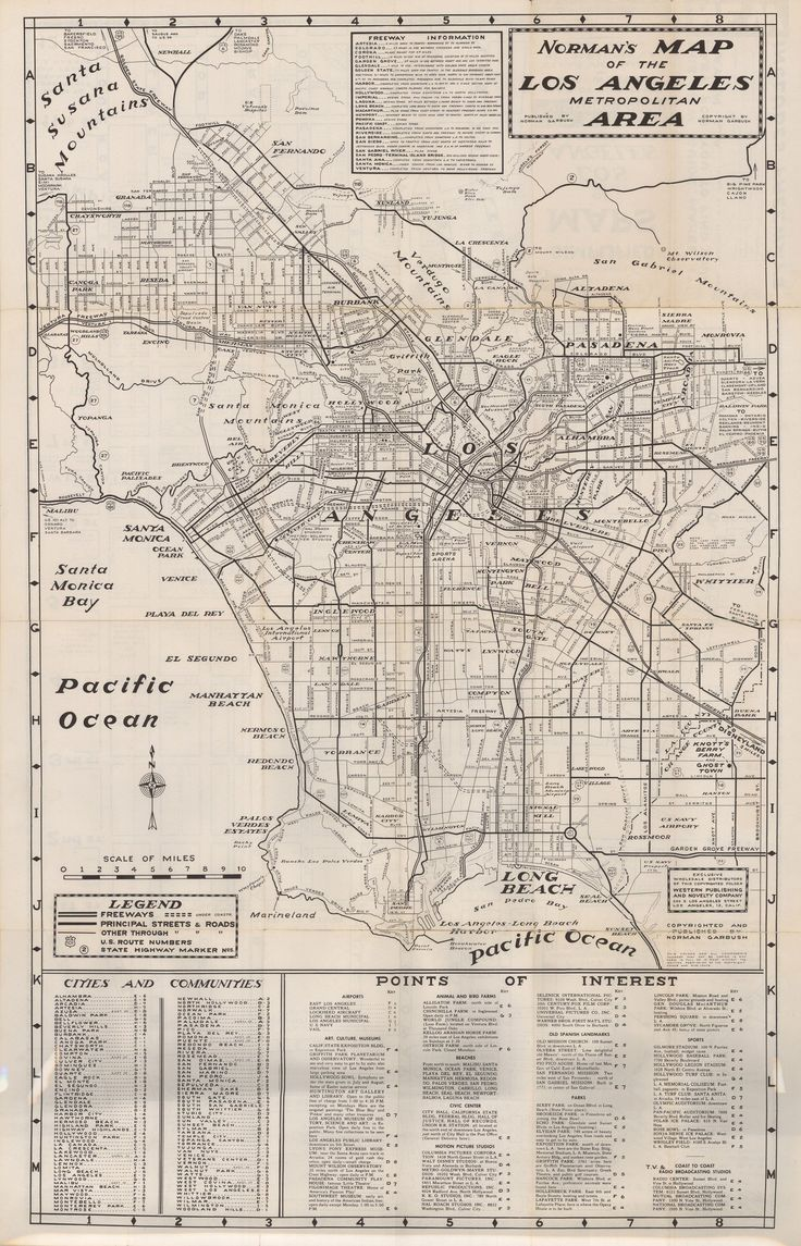 Best Maps Of Los Angeles Images On Pinterest - Jo mora los angeles map