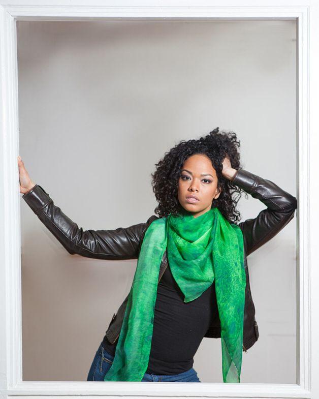 Silk Scarves – Chlorophyll – a unique product by Eliasu on DaWanda