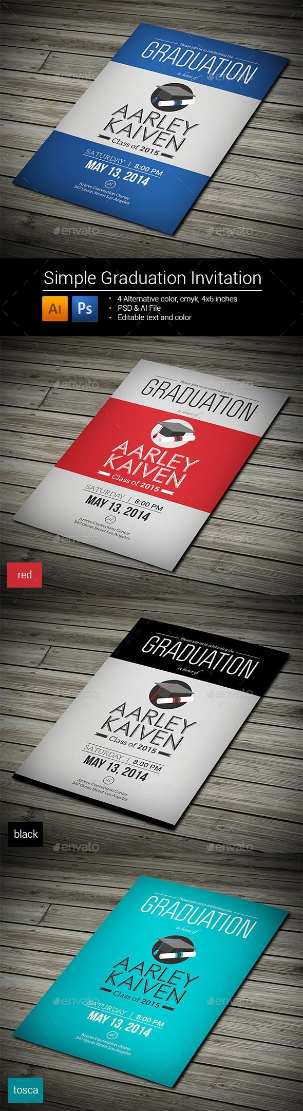 business meeting invitation email template%0A Simple Graduation Invitation  template  cards  print  invites