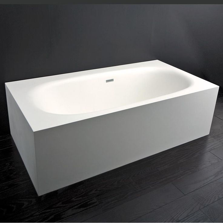 Pipeline Supply Inc - Lacava - 323878 - Free-standing soaking bathtub made of white solid surface with an overflow -