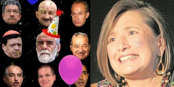 Miedosa y sumisa, Xóchitl Gálvez pide perdón a Fernández de Cevallos por balconear fiesta con sus cómplices