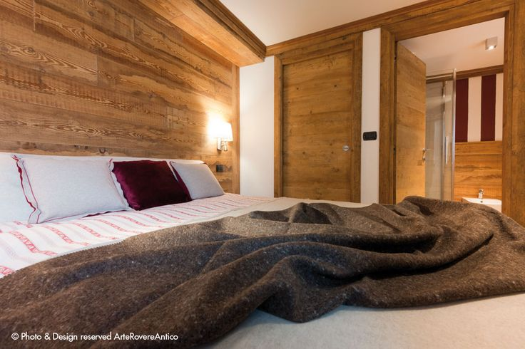 || Arte Rovere Antico - Photo by Duilio Beltramone for Sgsm.it || Casa Verde - La Thuile - Wood Interior Design - Bedroom