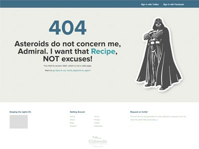Dribbble - 404 Error Page by Aaron K. White