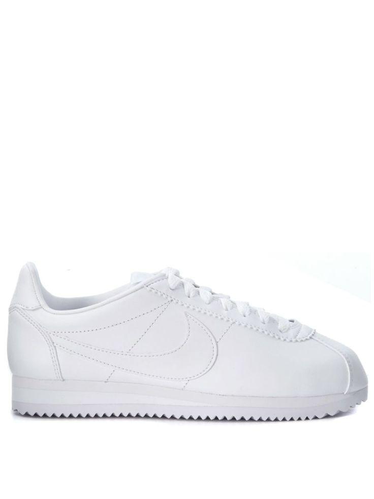 NIKE Cortez White Leather Nike Classic Sneaker. #nike #shoes #