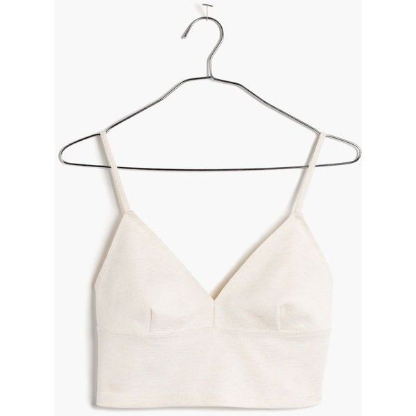 MADEWELL Cami Crop Top (€31) ❤ liked on Polyvore featuring tops, crop tops, shirts, tank tops, bright ivory, sexy crop top, camisole tops, sexy tops, cropped cami and white shirts