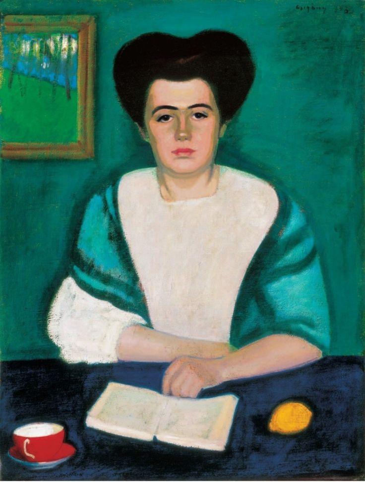 CZIGÁNY Dezső: Portrait of Irén Jakab, 1908