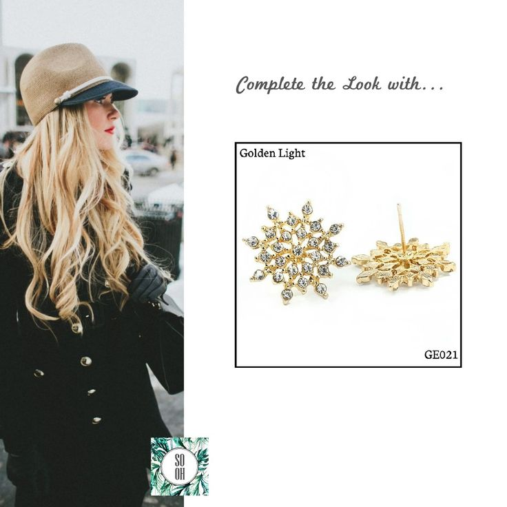 Ref: GE021 Golden Light Medidas: 2.1 cm x 2.1 cm  So Oh: 3.99#sooh_store #onlinestore #brincos #earrings #fashion #shoponline #inspiration #styleinspiration #aw2016 #aw1617 #winter #style
