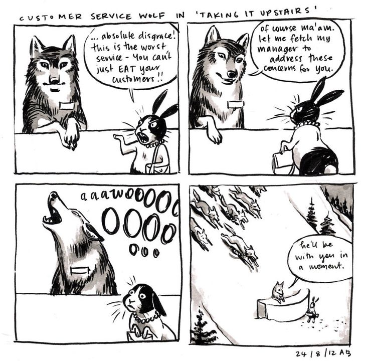 Customer Service Wolf In 'Taking It Upstairs'
