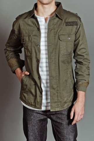//\\ Army green lightweight jacket