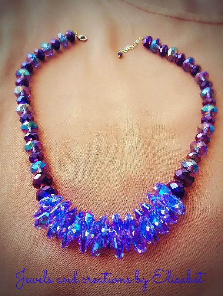 #blue #statementnecklace #statement #colors #trend #newtrend #new #swarovski #swarovskicrystals #glam #summer #Greece