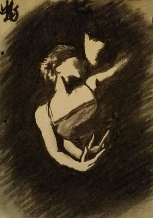 Tango - charcoal drawing / houtskool tekening. www.gomes-art.nl