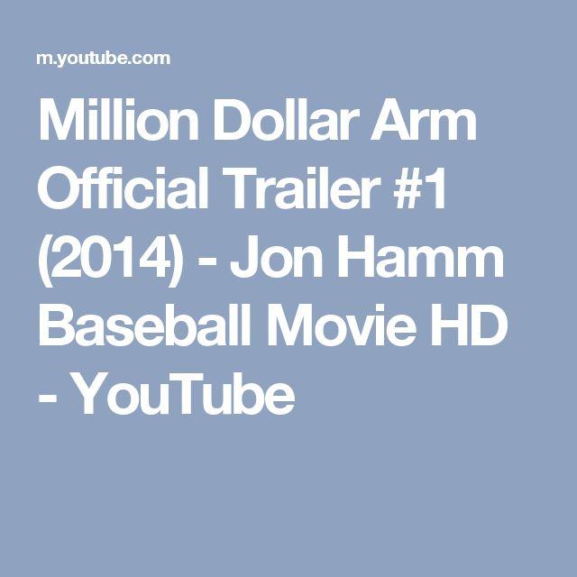 Million Dollar Arm Official Trailer #1 (2014) - Jon Hamm Baseball Movie HD - YouTube