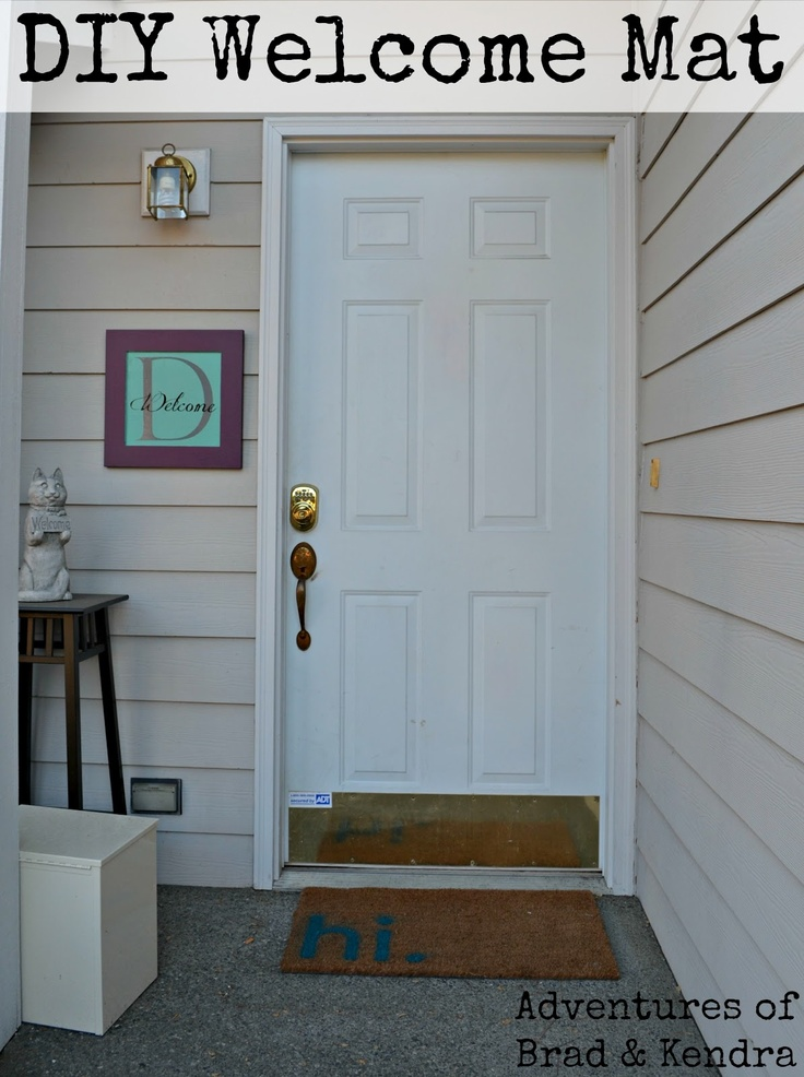 Adventures Of Brad Amp Kendra Diy Welcome Mat House Ideas
