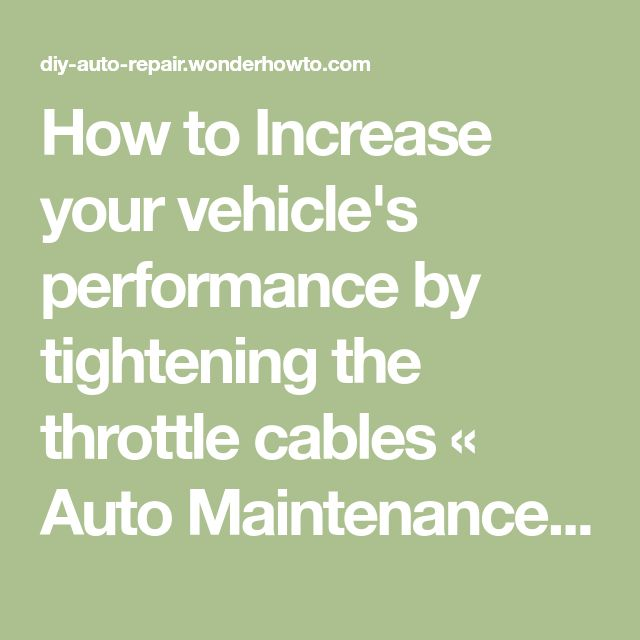 How To Increase Your Vehicle's Performance By Tightening