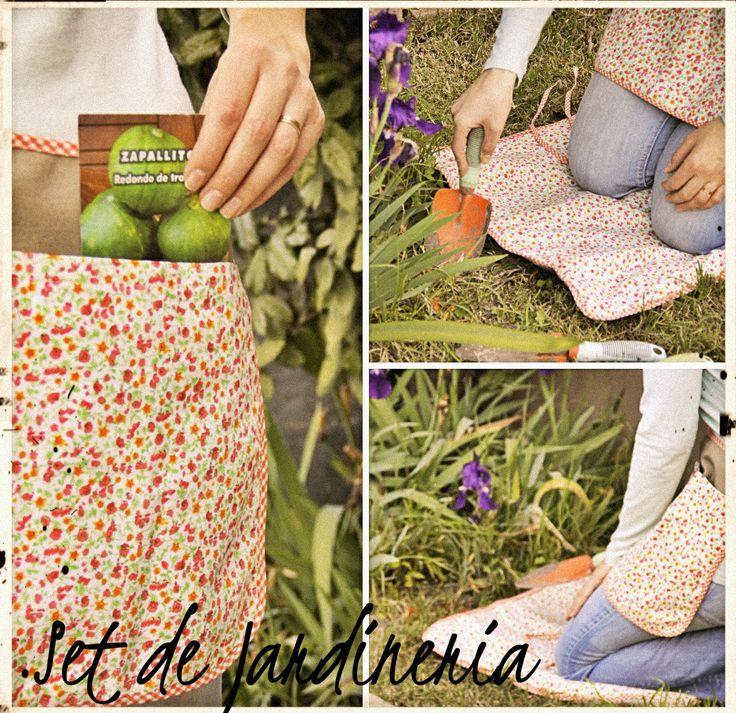 Set de jardinería, trae manta y delantal corto para cuidar nuestras plantas sin perder comodidad y practicidad!