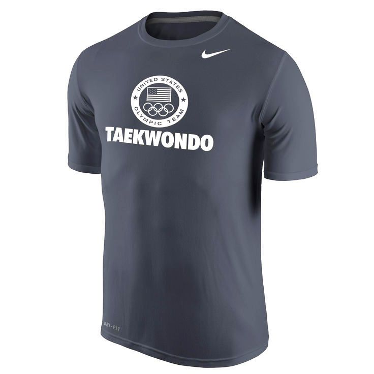 Team USA Nike Taekwondo Legend Sport Performance T-Shirt - Anthracite - $22.39