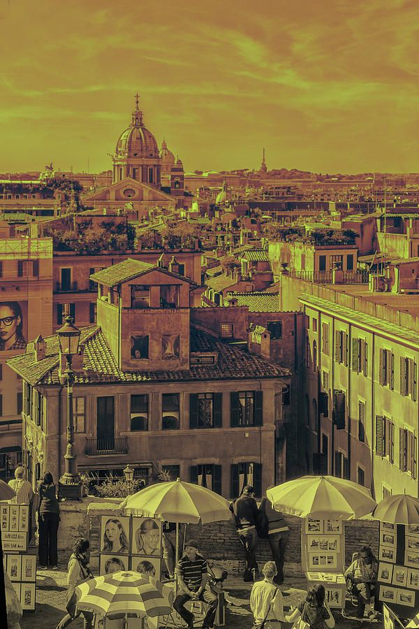 George Westermak Photograph - Panorama Of Rome With Views Of The Cathedrals Of The Vatican, The Area With Artists And Vacationers by George Westermak# George Westermak#Landscape#FineArtPfotography#Travel#FineArtPrints