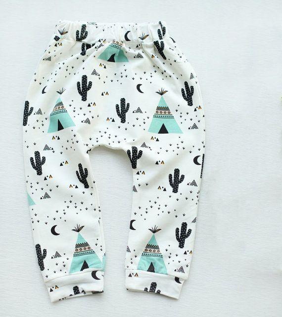 - Harem Style Leggings - Soft Stretch Cotton Jersey - Elastic Waistband