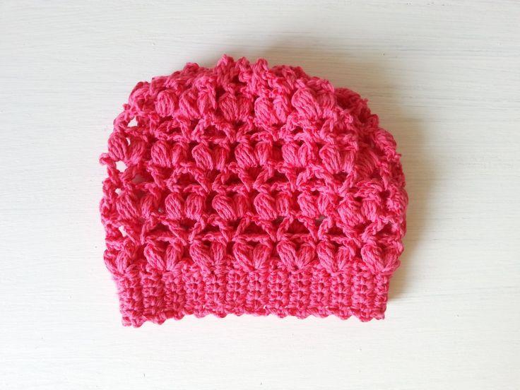 czapka dla niemowlaka na szydełku, crochet newborn cap, video tutorial