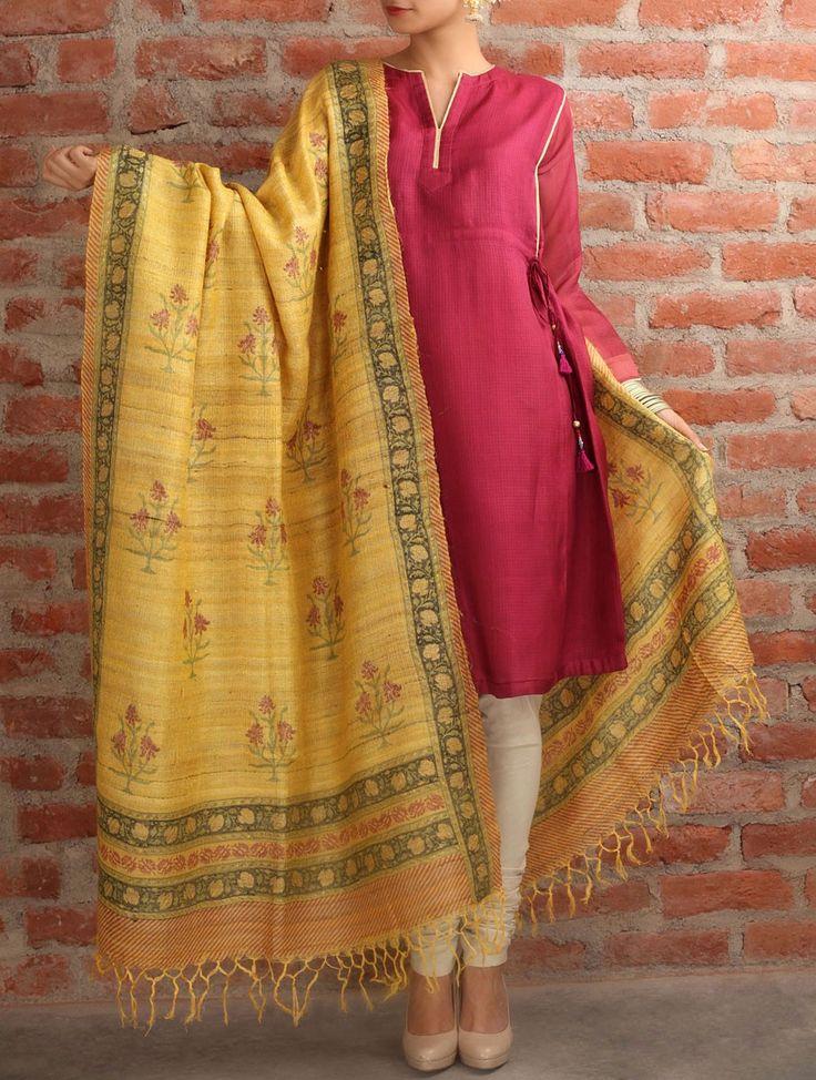 Dilkash Tussar Silk Dupatta Inspired Trinket