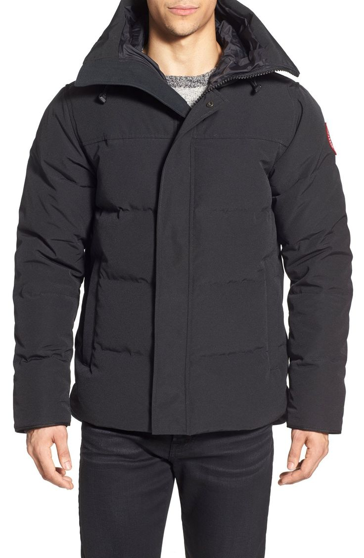 New Canada Goose 'MacMillan' Slim Fit Hooded Parka ,DEEP BLUE fashion online. [$825]top10shopping top<<