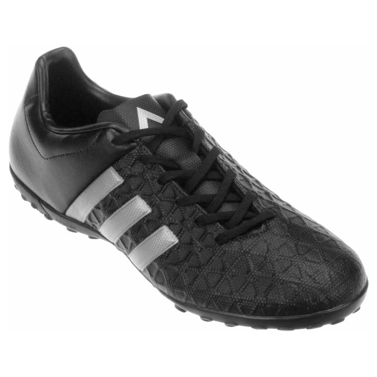 Chuteira Adidas Ace 15 4 TF Society Preto e Cinza | Netshoes
