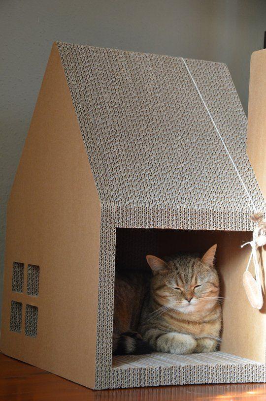 Perfect 5 Unusual Housewarming Gift Ideas. Cardboard Cat HouseCardboard ... Design Ideas