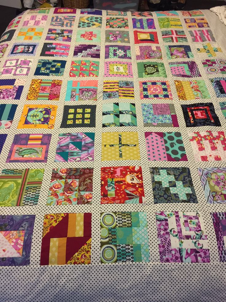 Tula Pink 100 Days 100 Blocks City Sampler Quilt