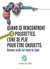 RATP Campagne de lutte contre l'#incivilité dans les #transports en commun