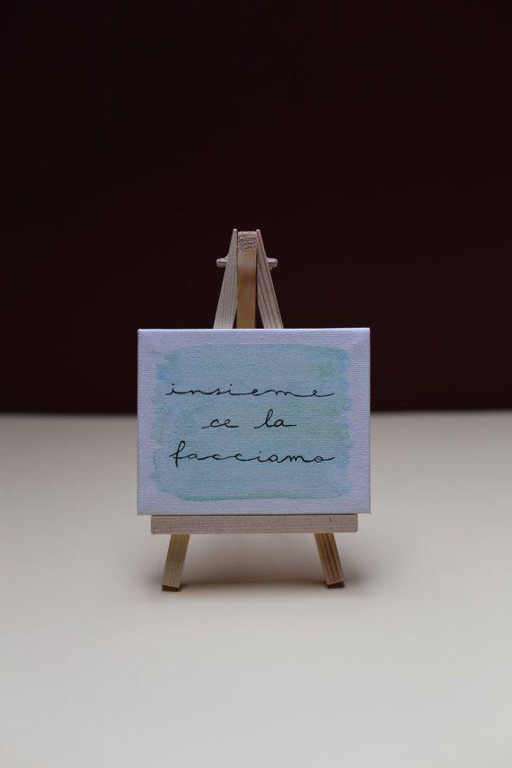 Tela dipinta con cavalletto di letteredinoemi su Etsy