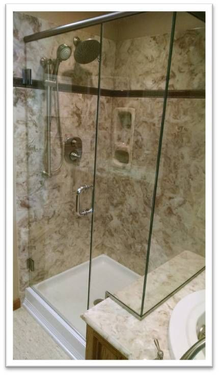 Us Marble Shower Shown In Venetian Cultured Marble