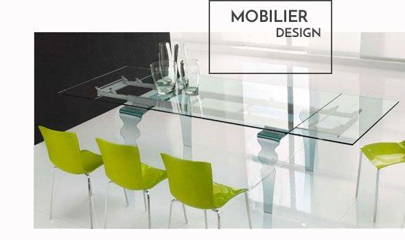 Mobilier design, #tables de salle à #manger en verre, tables en bois & acier, des mélanges de matières harmonieuses pour un #design unique  à découvrir sur www.cosy-tendance.com
