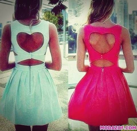Kalpli Sırtı Açık Elbise