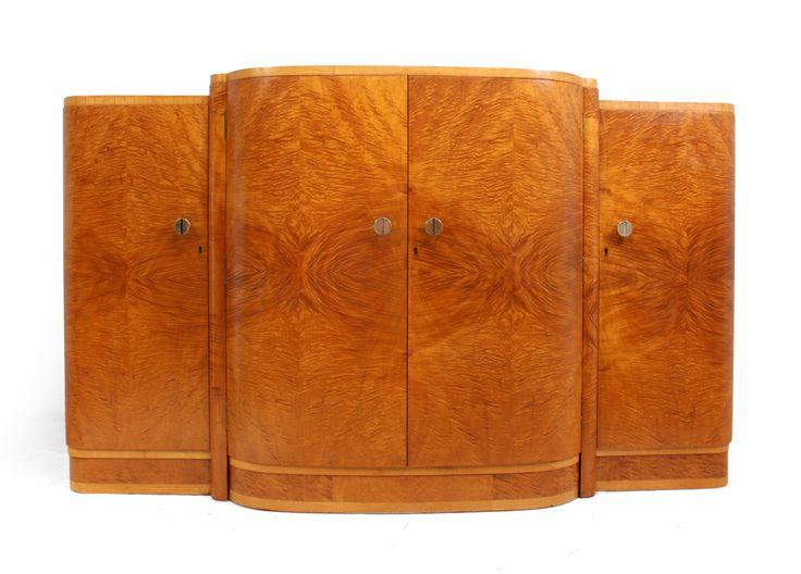 Art Deco Satin Maple Sideboard c1930