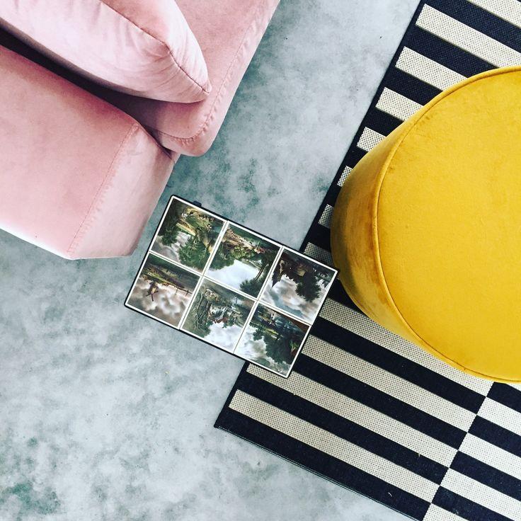 Velvet love pink and yellow