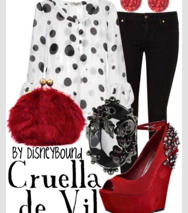 Cruella DeVille Disney Bound