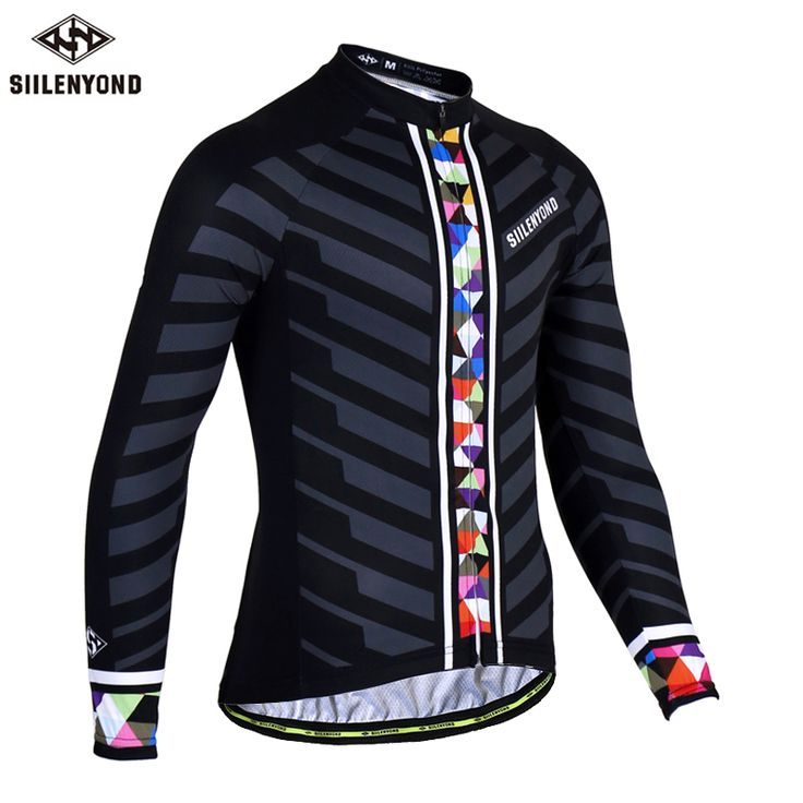 SIILENYOND Mischa Long Sleeve Pro Cycling Jerseys Men MTB Bike Clothing Bicycle Maillot Equipacion Ciclismo Sportswear For Man #Affiliate