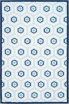 Safavieh Kids Rug, Blue/Ivory contemporary kids rugs