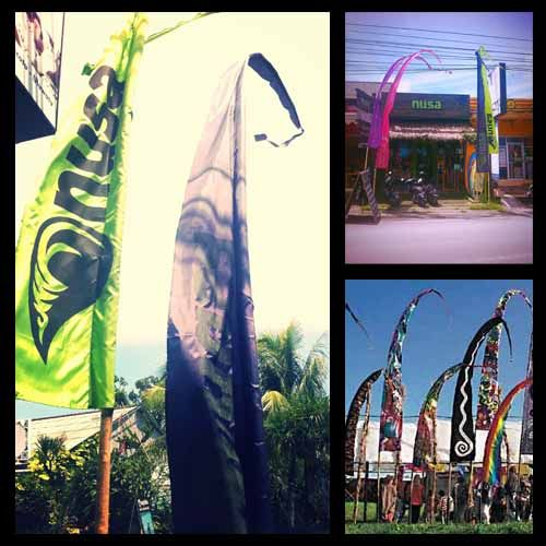 Umbul-umbul - Balinese banners. Often used for ceremonies and other decorative purposes.